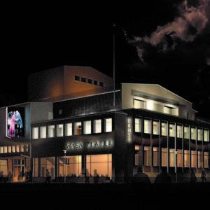 Vy från Sandögatan. Bild LAAJA arkitekter.